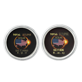 Total Solar Eclipse Cuff-Linkings Aug 21st. USA Cuff Links