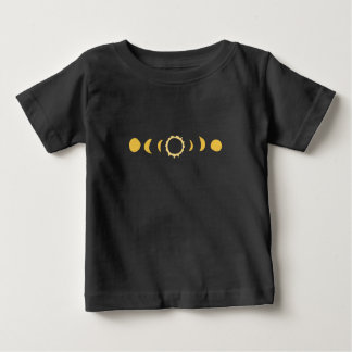 Total Solar Eclipse Date time art tee