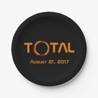 Total Solar Eclipse Event Paper Plate