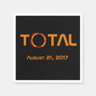 Total Solar Eclipse Event Paper Serviettes