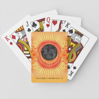 Total Solar Eclipse Fractal Art Playing Cards
