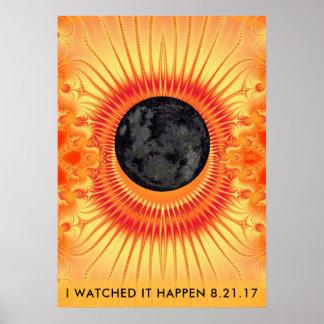 Total Solar Eclipse Fractal Art Poster
