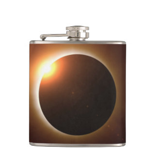 Total Solar Eclipse Hip Flask