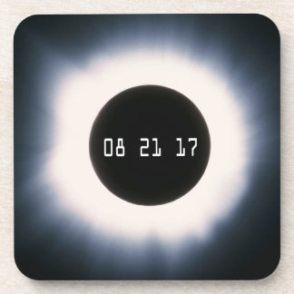 Total Solar Eclipse in Black and White Coaster