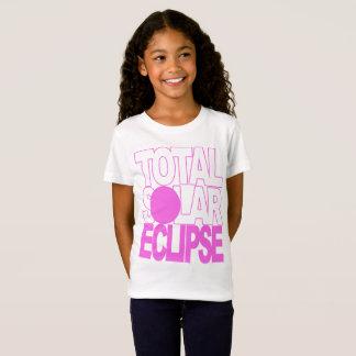 Total Solar Eclipse Kids Pink Series T-Shirt
