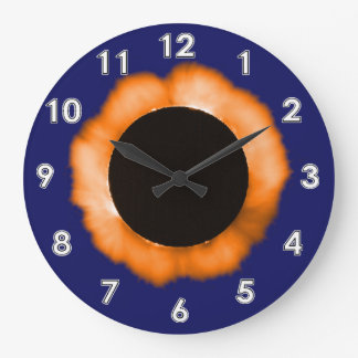 Total Solar Eclipse Large Clock