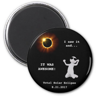 Total Solar Eclipse Magnet - I saw it!