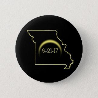Total Solar Eclipse Missouri 2017 6 Cm Round Badge