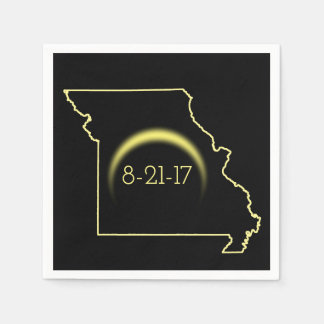 Total Solar Eclipse Missouri 2017 Disposable Napkins