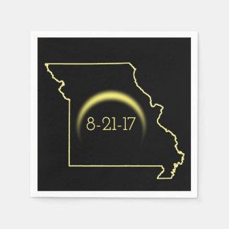 Total Solar Eclipse Missouri 2017 Disposable Serviette
