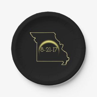 Total Solar Eclipse Missouri 2017 Paper Plate