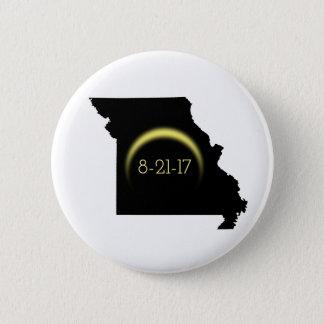 Total Solar Eclipse Missouri Silhouette 2017 6 Cm Round Badge