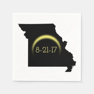 Total Solar Eclipse Missouri Silhouette 2017 Paper Serviettes