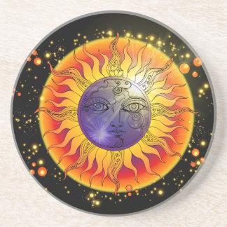 Total Solar Eclipse Moon Face Coaster