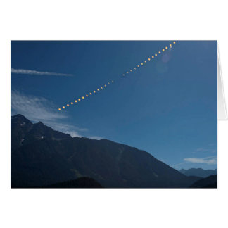 Total Solar Eclipse Mountain Time Lapse Card