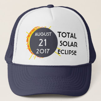 Total Solar Eclipse one-of-a-kind customizable Trucker Hat