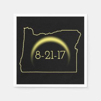 Total Solar Eclipse Oregon 2017 Disposable Serviette