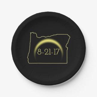 Total Solar Eclipse Oregon 2017 Paper Plate