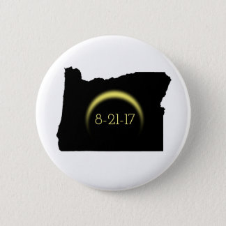 Total Solar Eclipse Oregon Silhouette 2017 6 Cm Round Badge