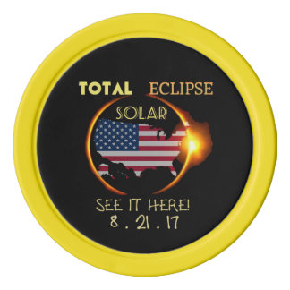 Total Solar Eclipse Poker Chip Aug 21st. USA