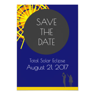 Total Solar Eclipse Save The Date Card