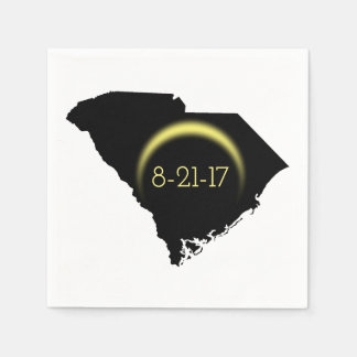 Total Solar Eclipse South Carolina Silhouette 2017 Disposable Napkin