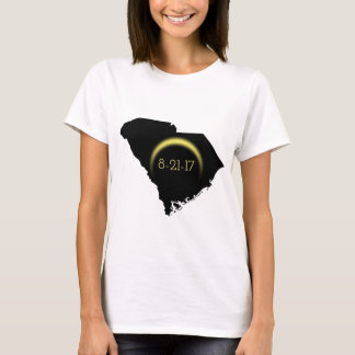 Total Solar Eclipse South Carolina Silhouette 2017 T-Shirt