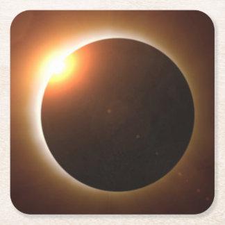 Total Solar Eclipse Square Paper Coaster