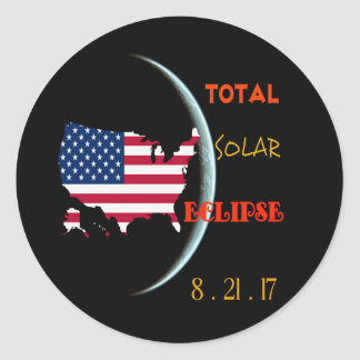 Total Solar Eclipse Sticker Aug 21st. USA