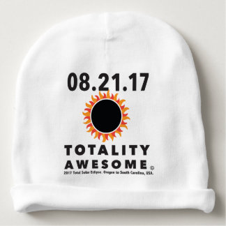 "Total Solar Eclipse ""Totality Awesome"" baby cap Baby Beanie"