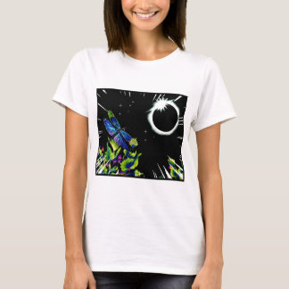 Total Solar Eclipse with a Dragonfly Observing T-Shirt