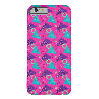 Totally 80's Hot Pink Triangles Geometric Barely There iPhone 6 Case