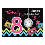 totally 80's retro  party Invitation 13 Cm X 18 Cm Invitation Card