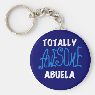 Totally Awesome Abuela Blue Tshirts and Gifts Key Ring