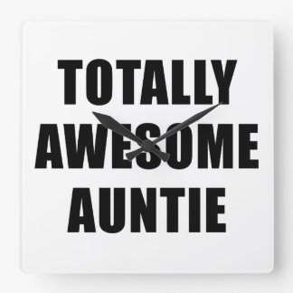 Totally Awesome Auntie Square Wall Clock