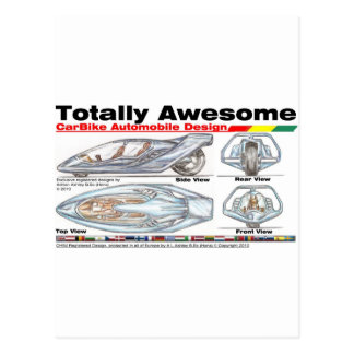 Totally Awesome CARBIKES v8 Postcard