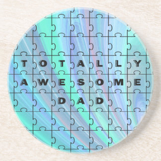 Totally Awesome Dad blue Coaster