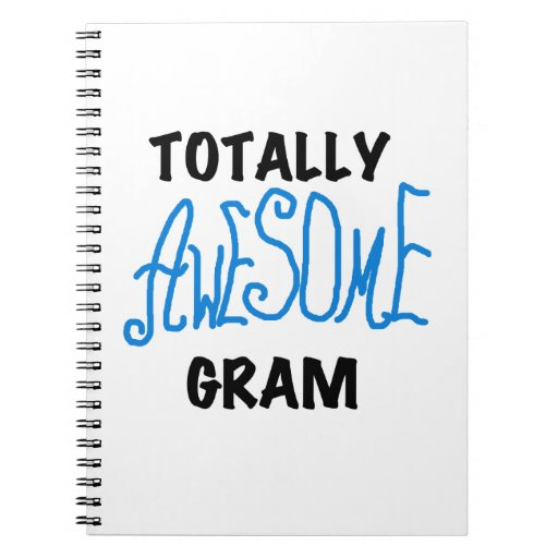 Totally Awesome Gram Blue Gifts Spiral Note Books