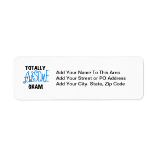 Totally Awesome Gram Blue Tshirts and Gifts Return Address Label