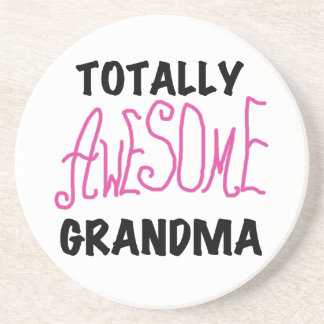 Totally Awesome Grandma - Pink Tshirts and Gifts Drink Coasters