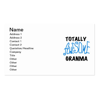 Totally Awesome Granma Blue Tshirts Gifts Business Cards
