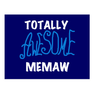 Totally Awesome Memaw Blue T-shirts Postcard