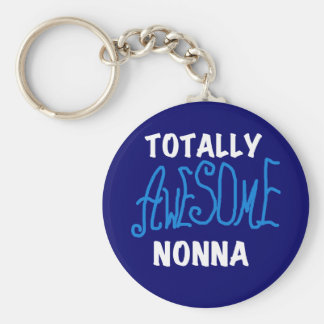 Totally Awesome Nonna Blue T-shirts and Gifts Basic Round Button Key Ring