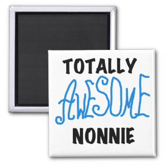 Totally Awesome Nonnie Blue Text Tshirts and Gifts Magnet