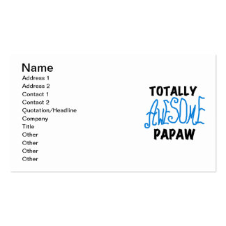 Totally Awesome Papaw T-shirts and Gifts Business Cards