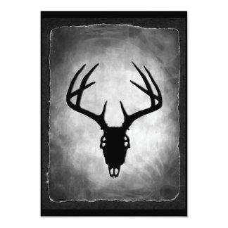 """Totally Cool Deer Skull Invitations 5"""" X 7"""" Invitation Card"""