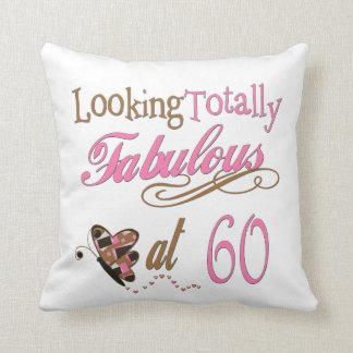 Totally Fabulous at 60 Throw Pillow