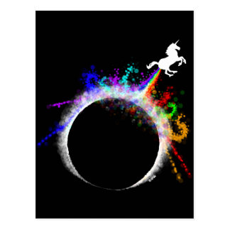 Totally magical eclipse postcard