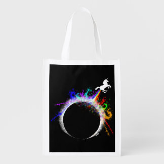 Totally magical eclipse reusable grocery bag
