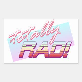 Totally RAD! Rectangular Sticker